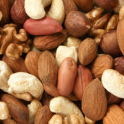 Peanuts, almonds, cashews