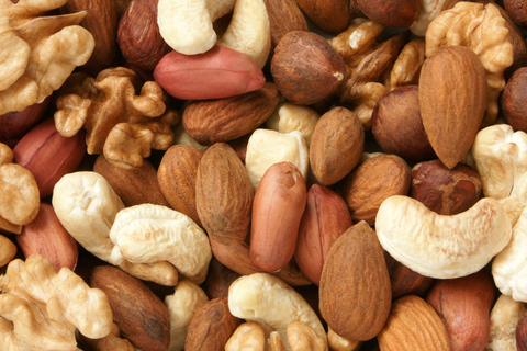 Peanuts, almonds, cashews